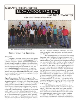 palo alto friends meeting el salvador projects report june 2017 page 1